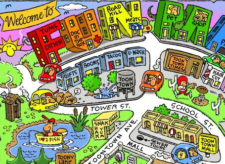 "Snippet from ""Fun Maps USA"" by Bron Smith"