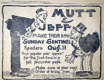 """Mutt and Jeff,"" Appleton Daily Post newspaper, August 1918"