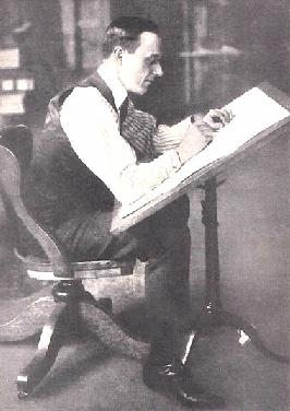 Bud Fisher at His Drawing Desk